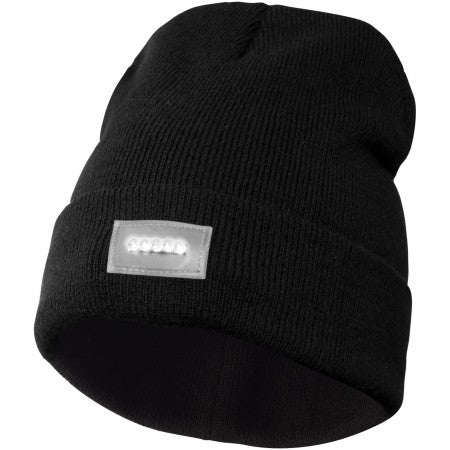 Lucina LED beanie, solid black, 30 x 20 cm