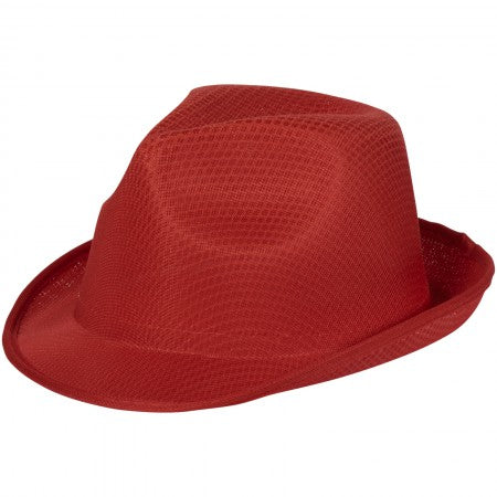 Trilby Hat, red