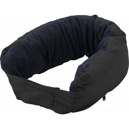 3-in-1 multifunctional zippered neck pillow, black