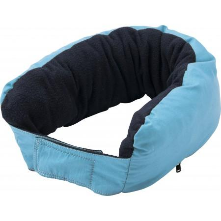 3-in-1 multifunctional zippered neck pillow, light blue