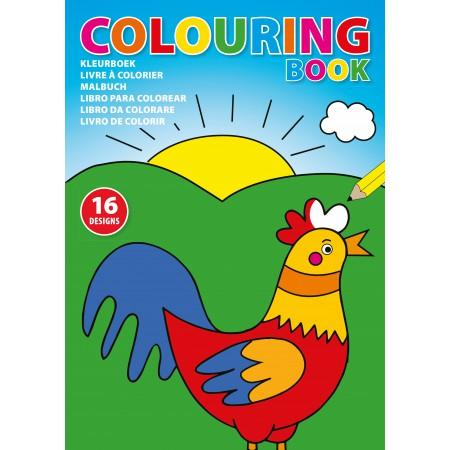 A4 Children's colouring book., custom/multicolor