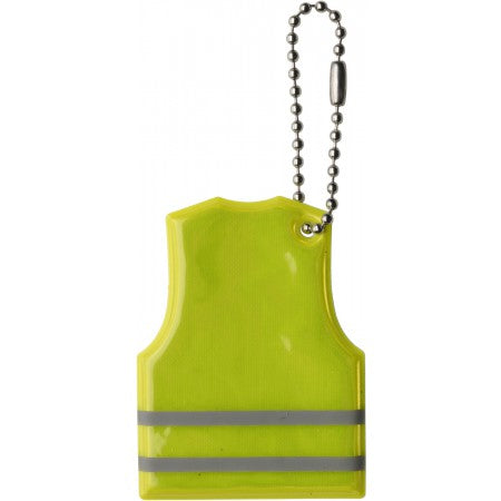 Vest shaped key holder, yellow