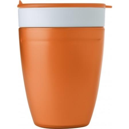 2-in-1 drinking mug, orange - BRANIO