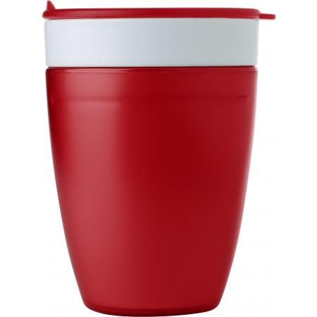2-in-1 drinking mug, red - BRANIO