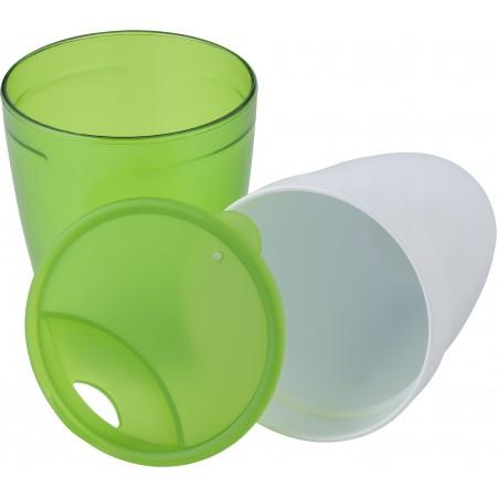 2-in-1 drinking mug, lime - BRANIO