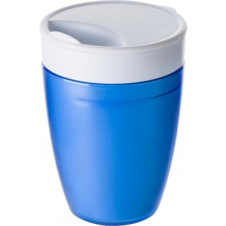 2-in-1 drinking mug, cobalt blue - BRANIO