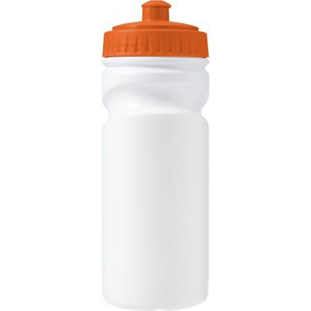 100% recyclable plastic drinking bottle (500ml), orange - BRANIO
