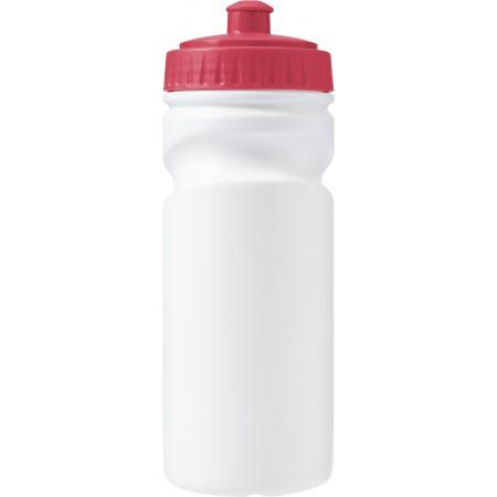 100% recyclable plastic drinking bottle (500ml), red - BRANIO