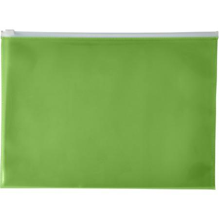 A4 Transparent PVC document folder, green - BRANIO