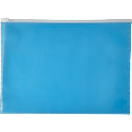 A4 Transparent PVC document folder, blue - BRANIO