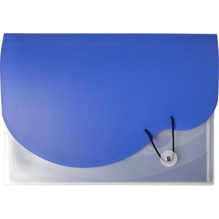A4 Plastic expanding document folder, cobalt blue - BRANIO