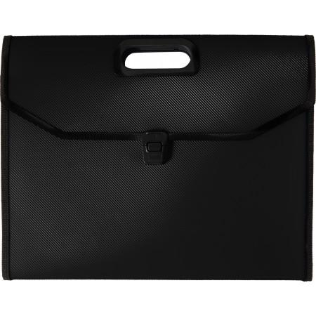 A4 Plastic expanding document folder, black - BRANIO