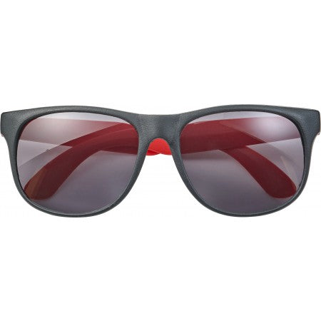 PP sunglasses with coloured legs, red