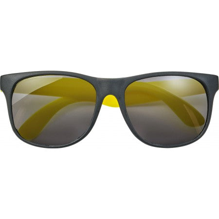 PP sunglasses with coloured legs, fluor yellow