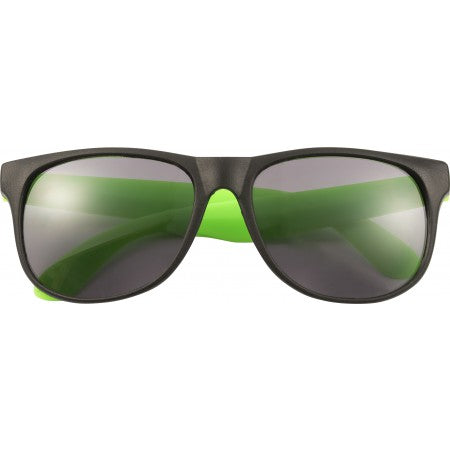 PP sunglasses with coloured legs, fluor green