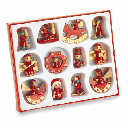 12 pieces Christmas decoration - BRANIO