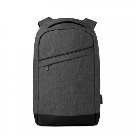 2 tone backpack incl USB plug - BRANIO