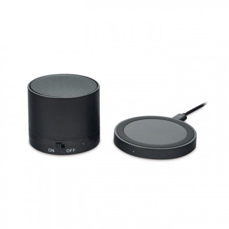 Incarcator Wireless si BT Speaker Negru