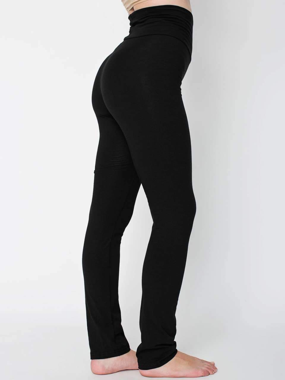 WOMEN'S COTTON SPANDEX JERSEY STRAIGHT LEG YOGA PANT