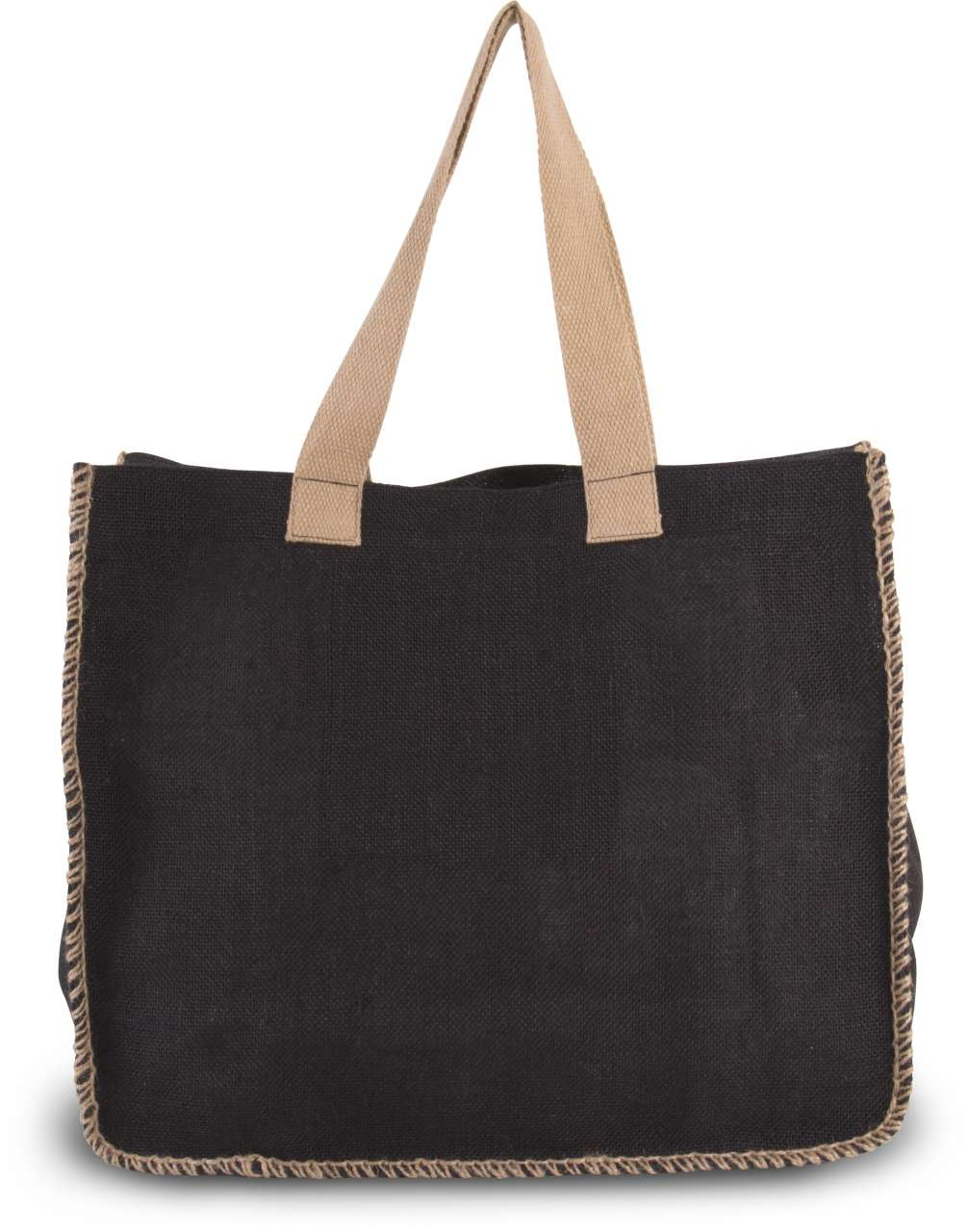 JUTE BAG WITH CONTRAST STITCHING