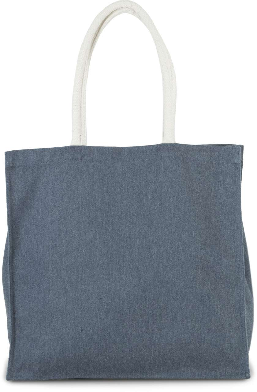 LARGE COTTON-POLYESTER SHOPPER BAG
