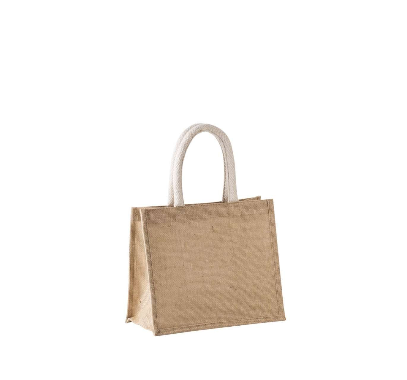 JUTE CANVAS TOTE SHOPPING BAG - MEDIUM