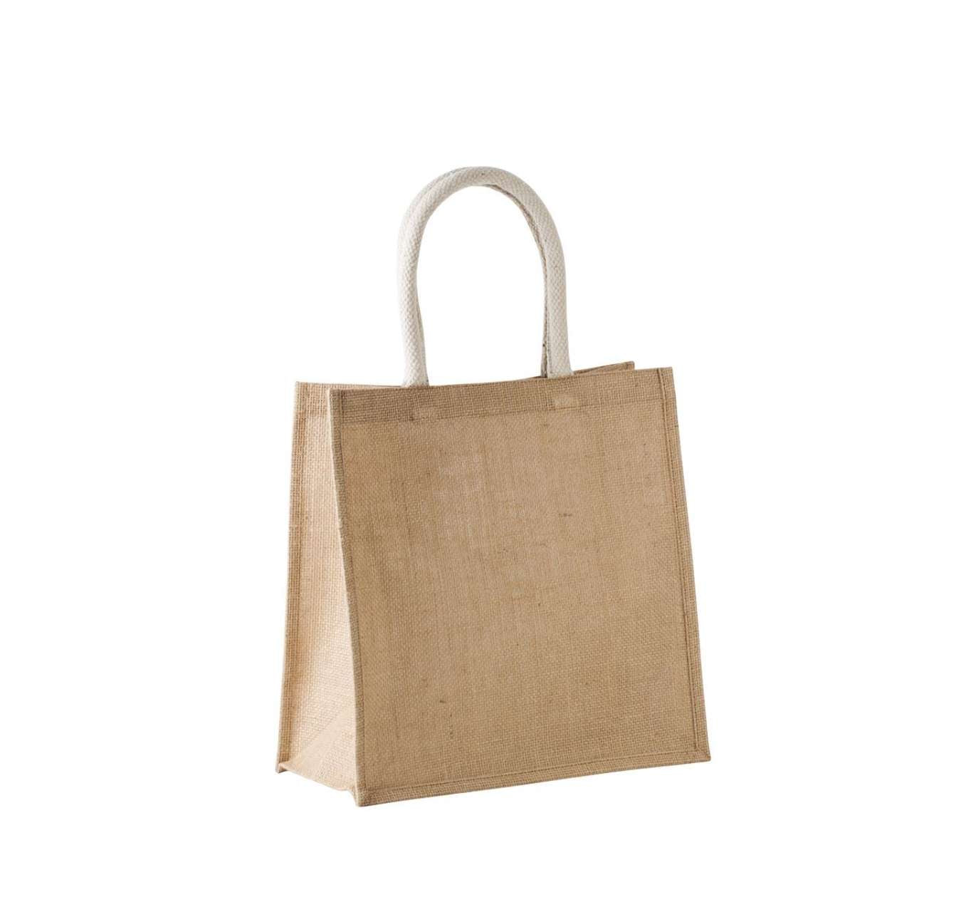 JUTE CANVAS TOTE SHOPPING BAG - LARGE