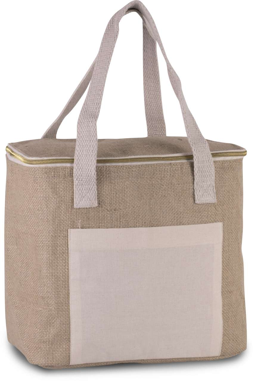 JUTE COOL BAG - MEDIUM SIZE