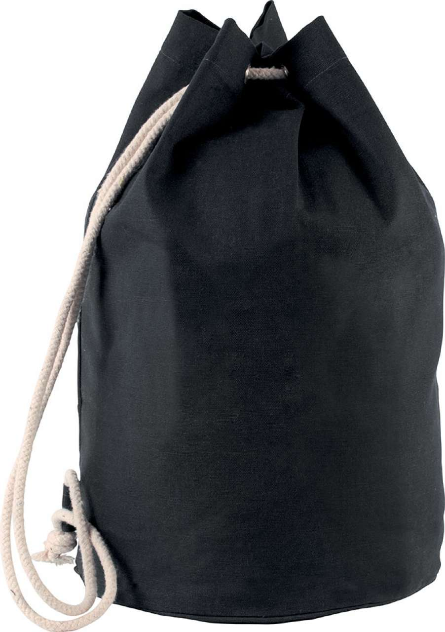 COTTON SAILOR STYLE BAG WITH DRAWSTRING