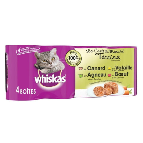 WHISKAS WET CAT FOOD CAN -24Pack