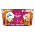 GLADE CANDLE HAWAIIAN BREEZE / VANILLA PASSION FRUIT 2 VALUE PACK (3 x 6.8oz)