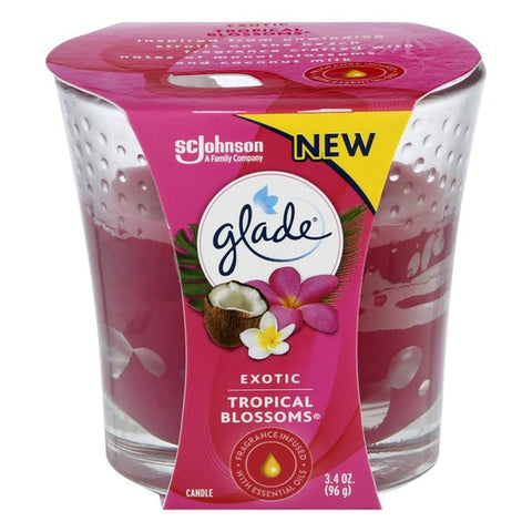 GLADE CANDLE TROPICAL BLOSSOMS (6 x 3.4oz)