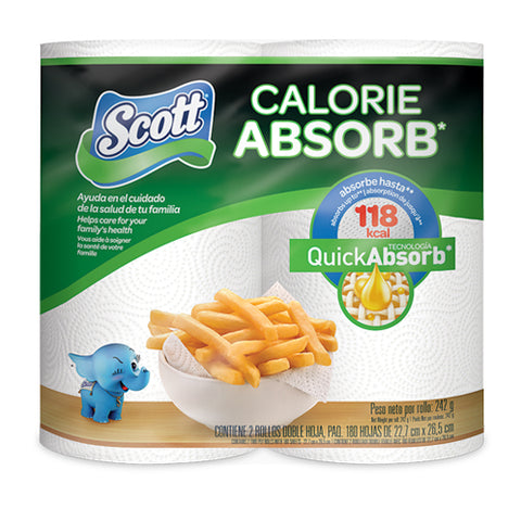 SCOTT CALORIE ABSORB KITCHEN ROLLS - (6x2Pack)