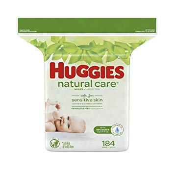 HUGGIES UNSCENTED REFILL WIPES (3x184CT=552CT)