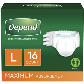 DEPEND FITTED BRIEFS MAXIMUM ABSORBENCY (3x16)