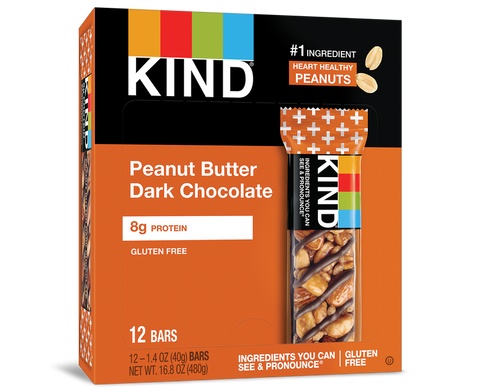 KIND PEANUT BUTTER AND CHOCOLATE ENERGY BARS 40g x 12Pack