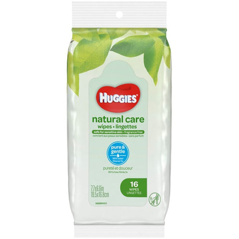 HUGGIES NATURAL CARE SOFT PACK WIPES (16x16CT=256CT)