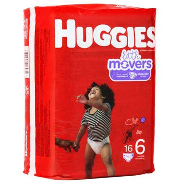 HUGGIES DIAPERS LITTLE MOVER S6 16PCx4PK