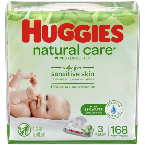 HUGGIES WIPES NAT CARE 3/3X56CT | Divico Cash & Carry Sint Maarten