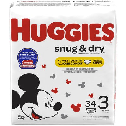 DIAPERS HUGGIES JUMB0 S3 34PCx4Pack