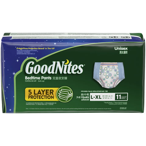 HUGGIES GOODNITES YOUTHPNTS L/XL -11PC x 4 Pack UNSX
