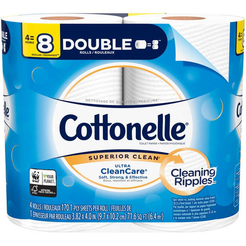 COTTONELLE BATH TISSUE ROLL 12x4 ROLL - 48 Pack