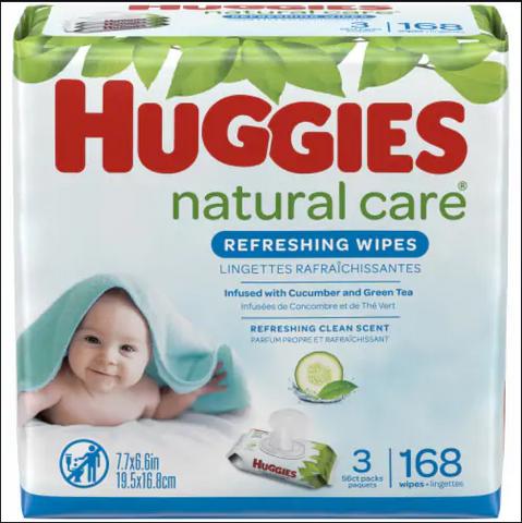 HUGGIES WIPES REFILL PACK ONE & DONE (3x168CT=504CT)