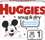DIAPERS HUGGIES JUMB0 S1 38PCx4PK