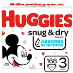 DIAPERS HUGGIES HUGE PACK S3 (168 CT)