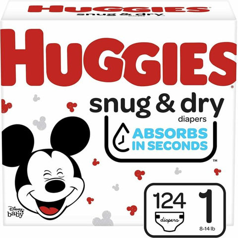 HUGGIES SNUG & DRY DIAPERS HI-CT S1 (1x124)