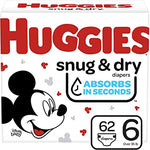 HUGGIES SNUG & DRY DIAPERS HI-CT S6 (1x62)
