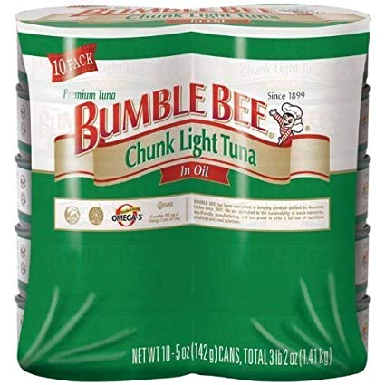 BUMBLE BEE  CHUNK LIGHT TUNA IN OIL 5 OZ x  10 Pack