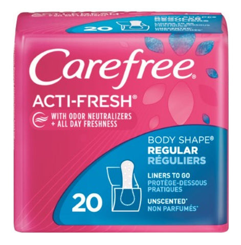 CAREFREE ACTIFRESH TO GO 20 COUNT/ 12 PACK CASE