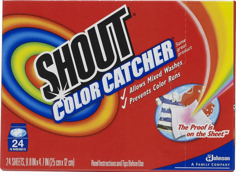 SHOUT COLOR CATCHER LAUNDRY SHEET 24ct 12Pack(288 Sheets)